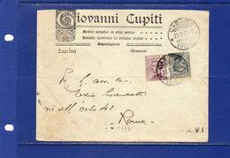 ##(YEL) - Italia -27-9-1927- Cascina -  Busta Mobilificio Giovanni Cupiti Per Roma - 1900-44 Vittorio Emanuele III