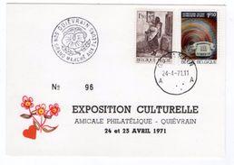 38365-ZE-BELGIQUE-EXPOSITION CULTURELLE-AMICALE PHILATELIQUE-QUIEVRAIN-24 Et 25 AVRIL 1971 - Quiévrain