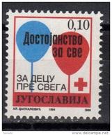 Yugoslavia,Red Cross 1994.,MNH - 1992-2003 République Fédérale De Yougoslavie
