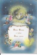 BUON NATALE E FELICE ANNO NUOVO - LA NATIVITA' -   VIAGGIATA 1966 DA CORMANO - Natale