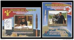 North Korea 2017 Mih. 6399/400 (Bl.947/48) Intercontinental Ballistic Missile Hwasong-14. Kim Jong Un MNH ** - Korea, North