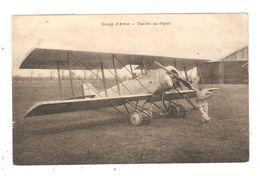 CPA  Aviation 18 AVORD  ( écrit Avor ) Camp D'Avor Hanriot Au Départ  Avion Pilote 1925 - 1919-1938: Entre Guerres