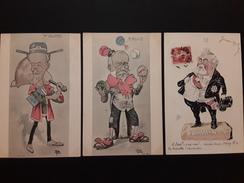 3 CPA Politique Satirique Mr Doumer (savoyarde), Mr Rouvier, Armand Fallière - Satirische