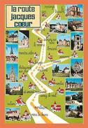 A661 / 533  18 - La Route De Jacques Coeur Carte Géographique Multivues - Non Classés