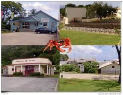 Christmas Island Buildings - Tourism Office, Cinema, Post Office, High School - Christmaseiland