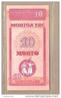 Mongolia - Banconota Non Circolata Da 10 Mongo - 1993 - Mongolia