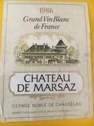 5363-  Château De Marsaz 1986 Haute-Savoie - Blancs