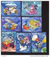 #  S-418   MINT NEVER HINGED SET OF STAMPS OF DISNEY ; SPACE EXPLORATION    ( MALDIVES   1273-9 - Disney