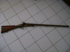 ANCIEN FUSIL DE CHASSE A BROCHE CAL 16 JUXTAPOSE - Decorative Weapons
