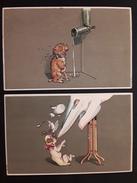 2 CPA HUMOURISTIQUE CHIEN PRINTED IN GERMANY - Künstlerkarten