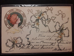 CPA Art Nouveau Illustrateur Carson 1903 Jeune Femme CLEMENT, TOURNIER ET Cie GENEVE - Künstlerkarten