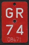 Velonummer Graubünden GR 74 - Placas De Matriculación