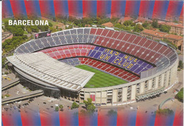 "Estadi Del FC Barcelona ""El Camp Nou"" Seating Capacity Of 99,350, Postcard Sent To ANDORRA, With Arrival Postmark - Stades"