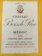 5378 -  Château Bois De Roc 1982 Médoc - Bordeaux