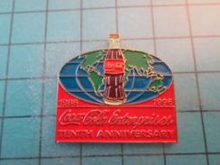 Pin1415c Pin's Pins / Beau Et Rare : COCA-COLA ENTREPRISES 1986 1996 TENTH ANNIVERSARY   Marquage Au Dos : - --- - - Coca-Cola