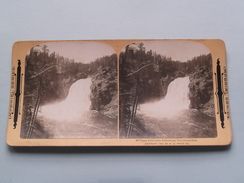 Upper Falls Of The YELLOWSTONE Yellowstone PARK ( 607 ) Stereo Photo IMPERIAL SERIES ( Voir Photo ) ! - Photos Stéréoscopiques