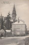 21 - Semur En Hiver - Vue De L'Eglise Prise De La Place De L'Ancienne Comédie. - Semur
