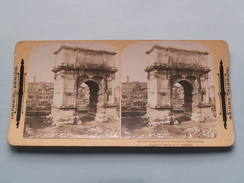 The TRIUMPHAL ARCH Of TITUS ( AD 70 ), Rome Italy ( 607 ) Stereo Photo IMPERIAL SERIES ( Voir Photo ) ! - Photos Stéréoscopiques