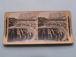 Interior Of The Great COLOSSEUM Rome Italy ( 1668 ) Stereo Photo IMPERIAL SERIES ( Voir Photo ) ! - Photos Stéréoscopiques
