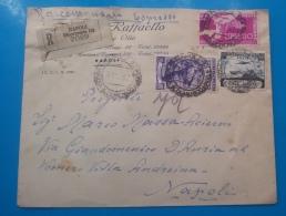 REPUBBLICA.ITALIA.STORIA POSTALE.BUSTA.AFFRANCATURA MISTA.NAPOLI.ESPRESSO.PUBBLICITARIA.TRICOLORE.50 - 6. 1946-.. Republic