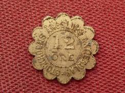 SUEDE Très Rare Jeton De Nécessité De Stokolm 12 Ore - Monetary /of Necessity