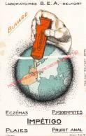Laboratoires B.E.A. - Belfort - Alibourine - Impétigo - Buvard 8.5x13.5cm - Produits Pharmaceutiques