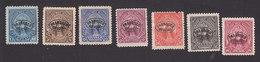 El Salvador, Scott #O1-O2, O7-O9, O11-O12, Mint Hinged/No Gum, Peace Overprinted, Issued 1896 - El Salvador