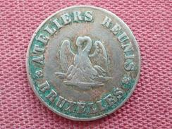 BELGIQUE Jeton De L'association Maçonnique 10 Cts Légumes RARE - Monetary / Of Necessity