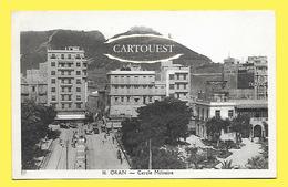 CPA Oran (Algérie) - Le Boulevard Séguin Et Le Cercle Militaire (Tramway) - Oran