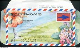 POLYNESIE FRANCAISE - AEROGRAMME N° 9 * * - SIGLE DES PTT - LUXE - Aérogrammes