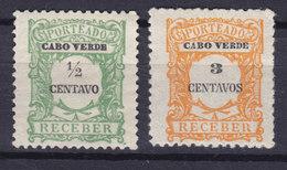 Cape Verde 1921 Mi. 21, 24 Portomarken Wertangabe In Centavos MNH** - Kaapverdische Eilanden