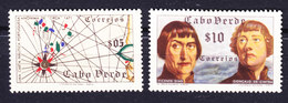 Cape Verde 1952 Mi. 280-81 Seekarte Sea Map, Vicente Dias Goncalo De Cintra MH* - Kaapverdische Eilanden