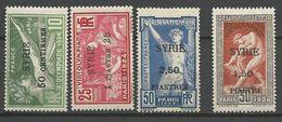 SYRIE N° 122 à 125  NEUF*  CHARNIERE TB / MH - Syria (1919-1945)