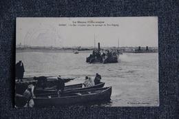 Campagne Du MAROC - RABAT, Le Bac à Vapeur Pour Le Passage Du BOU REGREG - Guerres - Autres