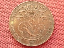 BELGIQUE Superbe Monnaie De 5 Cts 1856 Rare En L'état - 03. 5 Céntimos