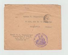 LSC 1916 - Fm - Cachet - 6èm CORPS D'ARMEE - Au Dos Cachet COURBEVOIE (Seine) - Marcophilie (Lettres)