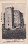 Cp , 86 , BEAUMONT , Le Château , Ruines Du Donjon, Vue Prise à L'Est - Other Municipalities