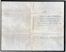 VP11.064 - REIMS 1864 - Faire - Part De Mariage De Mr Eugène COLLIEZ Avoué à COULOMMIERS & Melle Pauline PICARD - GOULET - Wedding