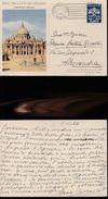 13734) CARTOLINA POSTALE CITTA DEL VATICANO LIRE 20 VIAGGIATA 1953 - Interi Postali