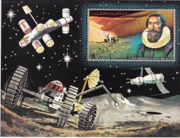 Bf. 361B Ajman 1971 Kepler Keplero Matematico  Luna Moon Stazione Orbitale Station CTO Imperf. - FDC & Commemoratives