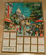 Torchon Calendrier Publicitaire 1968 La Séquanaise Neuf Jamais Lavé - Publicité