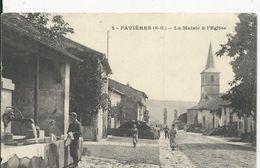 Faviéres  Mairie Et Eglise - France