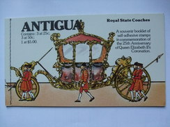 ANTIGUA - 1978 Silver Jubilee - Royal State Coaches Booklet - 3 X 25c  + 3 X 50c + 1 X $5 - 1858-1960 Crown Colony