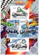 Burundi  -  Formule 1  -  Ayrton Senna-Michael Schumacher-Juan-Manuel Fangio-Giuseppe Farina  -  4v MS Neuf/mint - Cars