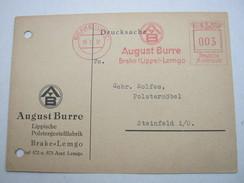 Freistempel Auf Karte Aus BRAKE  1938 - Briefe U. Dokumente