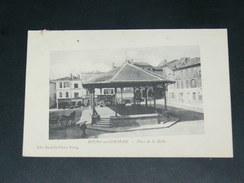 BOURG SUR GIRONDE / ARDT BLAYE   1905  PLACE DE LA HALLE    EDITEUR - Autres Communes