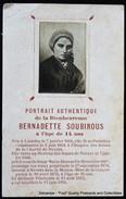 Image Pieuse Holy Card Heilig Prentje Portrait Authentique Bernadette Soubirous Lourdes - Devotion Images