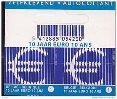 2009 Belgien Belgie  Belgique Booklet Stamp BDL BDR   Mi. 3919**MNH  10 Jaar Euro  10 ANS - Europäischer Gedanke