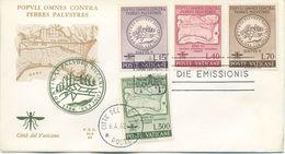 VATICANO - FDC ALA 1962  - MALARIA - FDC