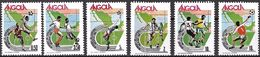 Soccer Football Angola #739/44 1986 World Cup Mexico MNH ** - 1986 – Mexique